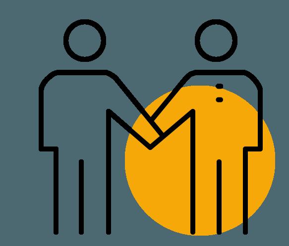 Piktogramm 2 Menschen als Team