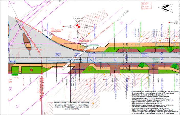 Braunschweiger Straße Lageplan mit Pflanzangaben