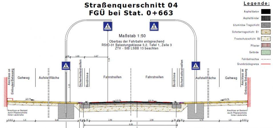 Braunschweiger Straße Straßenquerschnitt