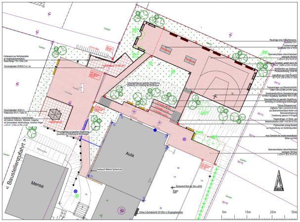 Lageplan Schulhof Gymnasium Beetzendorf